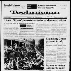 Technician, Vol. 72 No. 48, January 18, 1991