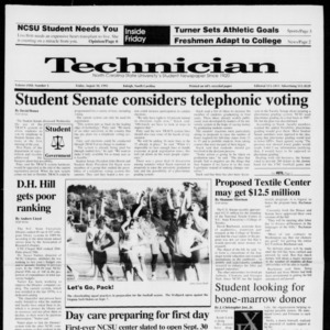 Technician, Vol. 72 No. 5, August 30, 1991