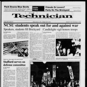 Technician, Vol. 72 No. 50, January 25, 1991