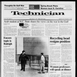 Technician, Vol. 72 No. 53, February 1, 1991