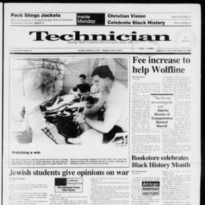 Technician, Vol. 72 No. 54, February 4, 1991