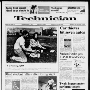 Technician, Vol. 72 No. 55, February 5, 1992