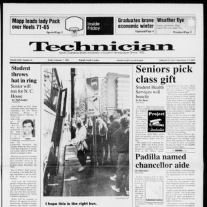 Technician, Vol. 72 No. 56, February 7, 1992