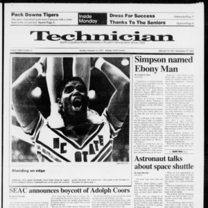 Technician, Vol. 72 No. 57, February 11, 1991