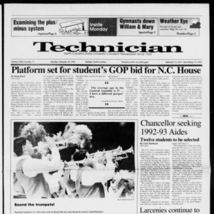Technician, Vol. 72 No. 57, February 10, 1992