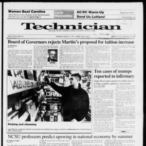 Technician, Vol. 72 No. 58, February 13, 1991