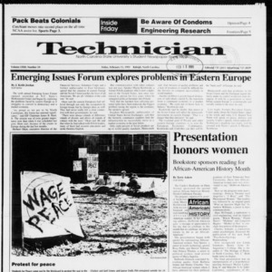 Technician, Vol. 72 No. 59, February 15, 1991