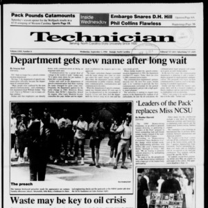 Technician, Vol. 72 No. 6, September 5, 1990
