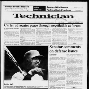 Technician, Vol. 72 No. 60, February 18, 1991