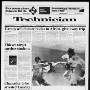 Technician, Vol. 72 No. 60, February 17, 1992