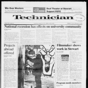 Technician, Vol. 72 No. 61, February 20, 1991