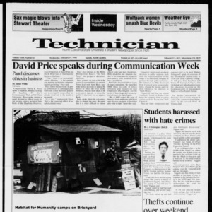 Technician, Vol. 72 No. 61, February 19, 1992