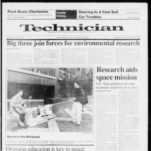 Technician, Vol. 72 No. 62, February 22, 1991