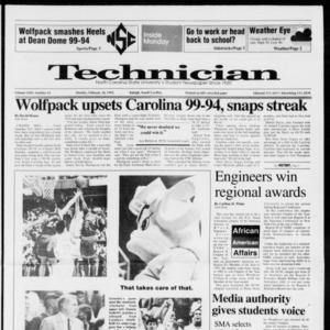 Technician, Vol. 72 No. 63, February 24, 1992