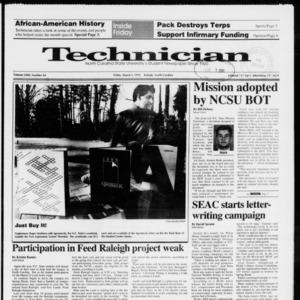 Technician, Vol. 72 No. 64, March 1, 1991