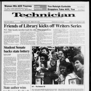 Technician, Vol. 72 No. 65, March 11, 1991