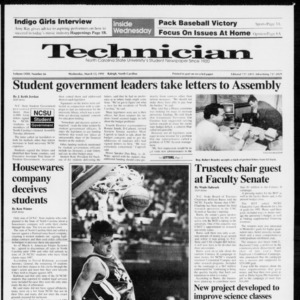 Technician, Vol. 72 No. 66, March 13, 1991