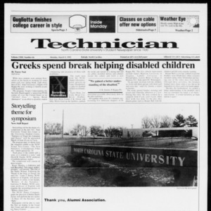 Technician, Vol. 72 No. 66, March 9, 1992