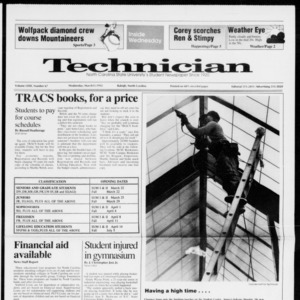 Technician, Vol. 72 No. 67, March 11, 1992