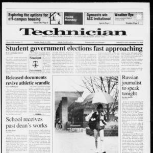 Technician, Vol. 72 No. 72, March 23, 1992