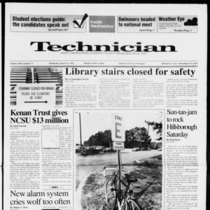 Technician, Vol. 72 No. 73, March 25, 1992