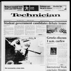 Technician, Vol. 72 No. 74, March 27, 1992