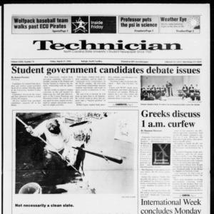 Technician, Vol. 72 No. 74, March 27, 1992