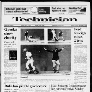Technician, Vol. 72 No. 75, March 30, 1992
