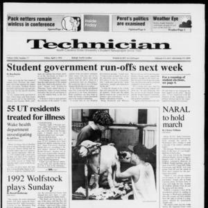Technician, Vol. 72 No. 77, April 3, 1992