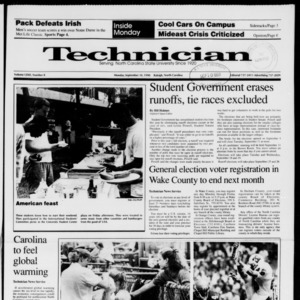Technician, Vol. 72 No. 8, September 10, 1990