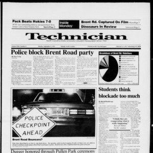 Technician, Vol. 72 No. 8, September 9, 1991