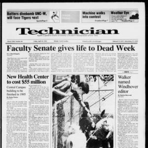 Technician, Vol. 72 No. 80, April 10, 1992