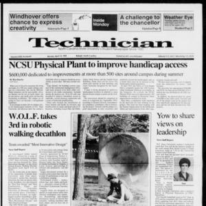 Technician, Vol. 72 No. 81, April 13, 1992