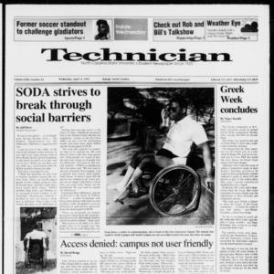 Technician, Vol. 72 No. 82, April 15, 1992