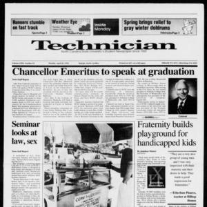 Technician, Vol. 72 No. 83, April 20, 1992