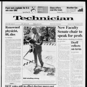 Technician, Vol. 72 No. 85, April 24, 1992
