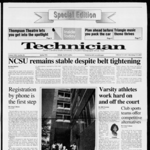 Technician, Vol. 72 No. 86, Spring 1992