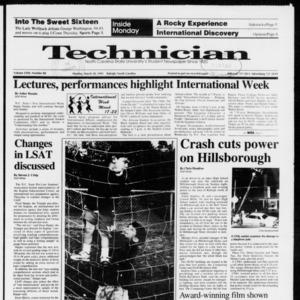 Technician, Vol. 72 No. 88, March 18, 1991