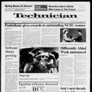 Technician, Vol. 72 No. 89, March 20, 1991