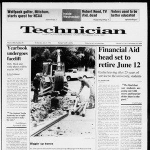 Technician, Vol. 72 No. 89, June 3, 1992