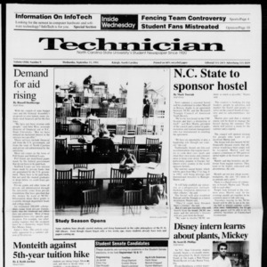 Technician, Vol. 72 No. 9, September 11, 1991