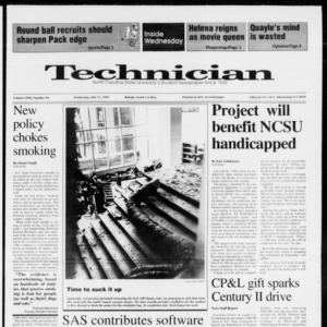 Technician, Vol. 72 No. 90, July 15, 1992