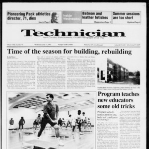 Technician, Vol. 72 No. 91, June 17, 1992