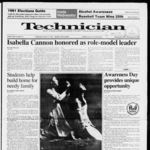Technician, Vol. 72 No. 92, March 27, 1991