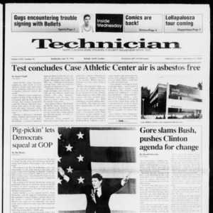 Technician, Vol. 72 No. 92, July 29, 1992