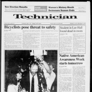 Technician, Vol. 72 No. 94, April 3, 1991