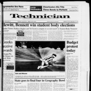 Technician, Vol. 72 No. 97, April 10, 1991