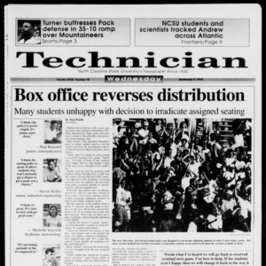 Technician, Vol. 73 No. 10, September 9, 1992