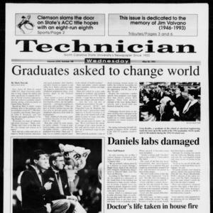 Technician, Vol. 73 No. 100, May 26, 1993
