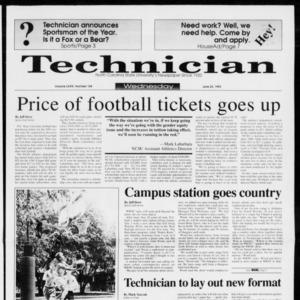 Technician, Vol. 73 No. 104, June 23, 1993